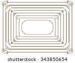decorative gold frame set vector | Shutterstock .eps vector #343850654