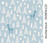 seamless background for winter... | Shutterstock .eps vector #343856123
