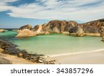 green pool and elephant rocks | Shutterstock . vector #343857296