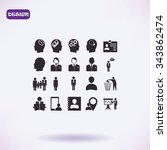 business man icons | Shutterstock .eps vector #343862474