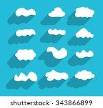 different cloud shapes. flat...