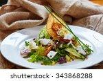 fresh spring salad with feta...