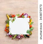 healthy food background and... | Shutterstock . vector #343873973