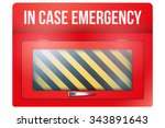 empty red emergency box with in ...   Shutterstock .eps vector #343891643