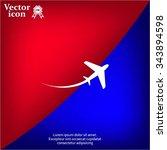 airplane symbol | Shutterstock .eps vector #343894598