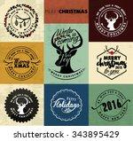 christmas greeting card design... | Shutterstock .eps vector #343895429