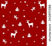 christmas paper pattern of... | Shutterstock .eps vector #343895588