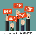 businessmen holding... | Shutterstock .eps vector #343901753