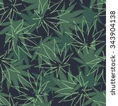 marihuana ganja weed seamless... | Shutterstock .eps vector #343904138