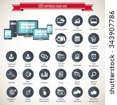 seo services icon set   Shutterstock .eps vector #343907786