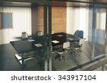 modern loft style conference... | Shutterstock . vector #343917104