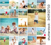 collage of photos summer... | Shutterstock . vector #343920710