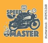 vintage motorcycle sport label  ... | Shutterstock .eps vector #343921268