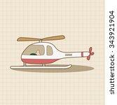 helicopter theme element vector ... | Shutterstock .eps vector #343921904