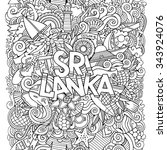 sri lanka country hand... | Shutterstock .eps vector #343924076