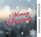 merry christmas and happy new... | Shutterstock .eps vector #343924154