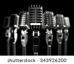 rank retro microphones with a... | Shutterstock . vector #343926200