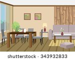 living room and dining room... | Shutterstock .eps vector #343932833
