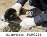 circular saw - stock photo