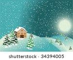 christmas card   Shutterstock .eps vector #34394005