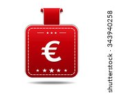 euro sign red vector icon design   Shutterstock .eps vector #343940258