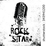 vintage rock and microphone for ... | Shutterstock .eps vector #343941200
