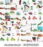 huge mega collection of... | Shutterstock .eps vector #343943303