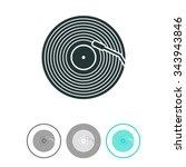 vinyl record vector icon.   Shutterstock .eps vector #343943846