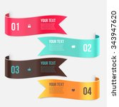 set of ribbon banners. wave... | Shutterstock .eps vector #343947620