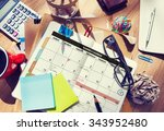 calendar planner organization... | Shutterstock . vector #343952480