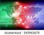 dark blue red green light... | Shutterstock .eps vector #343963670