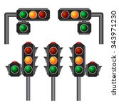 traffic lights vector... | Shutterstock .eps vector #343971230