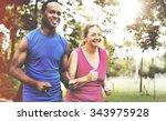 activity cardio cheerful couple ... | Shutterstock . vector #343975928