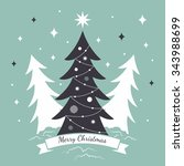 merry christmas greeting card... | Shutterstock .eps vector #343988699