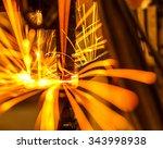 welding robots represent the... | Shutterstock . vector #343998938