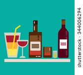 alcohol drink barman icon flat... | Shutterstock .eps vector #344006294