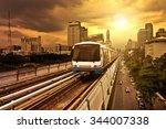 bangkok skytrain bts   Shutterstock . vector #344007338