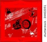 motorcycle grunge vector... | Shutterstock .eps vector #34402051