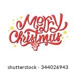 merry christmas calligraphic... | Shutterstock .eps vector #344026943