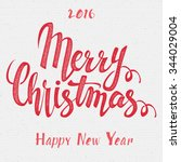 merry christmas  and happy new... | Shutterstock .eps vector #344029004