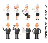 set characters old business... | Shutterstock .eps vector #344055269
