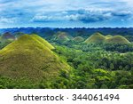 Chocolate Hills In Bohol Islan...