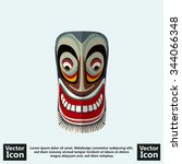 flat style icon with tribal... | Shutterstock .eps vector #344066348