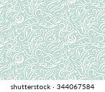 white pattern on light green... | Shutterstock .eps vector #344067584