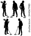 Metal Detecting Silhouette On...