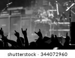 bunch of fans happy during a... | Shutterstock . vector #344072960