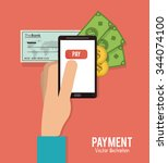 payment concept with money... | Shutterstock .eps vector #344074100