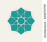 seljuk pattern | Shutterstock .eps vector #344074799