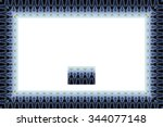 border or frame of abstract... | Shutterstock . vector #344077148