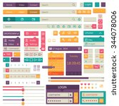 flat elements design  ui set ...